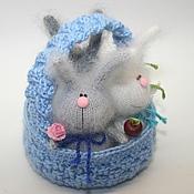Куклы и игрушки ручной работы. Ярмарка Мастеров - ручная работа Лукошко зайцев и Корзинка котов. Handmade.