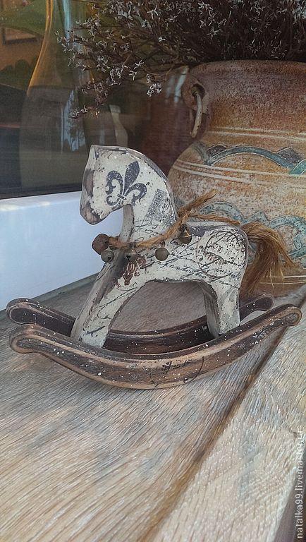 Детская ручной работы. Ярмарка Мастеров - ручная работа. Купить Почтовая лошадка. Handmade. Коричневый, Декупаж, лошадка игрушка