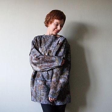 """Одежда ручной работы. Ярмарка Мастеров - ручная работа Джемпер войлочный оверсайз """"Земля осенью"""". Handmade."""