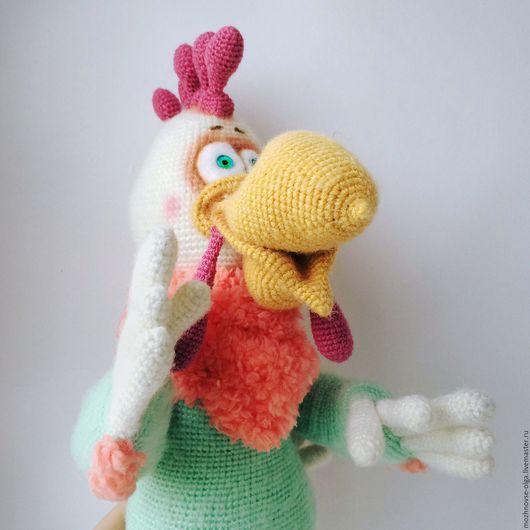 Игрушки животные, ручной работы. Ярмарка Мастеров - ручная работа. Купить Петух Расти вязаная игрушка. Handmade. Мятный