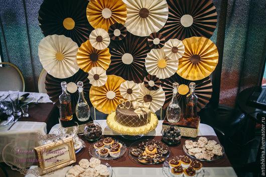 """Свадебные аксессуары ручной работы. Ярмарка Мастеров - ручная работа. Купить Оформление юбилея """"Все в шоколаде"""". Handmade. Коричневый, все в шоколаде"""