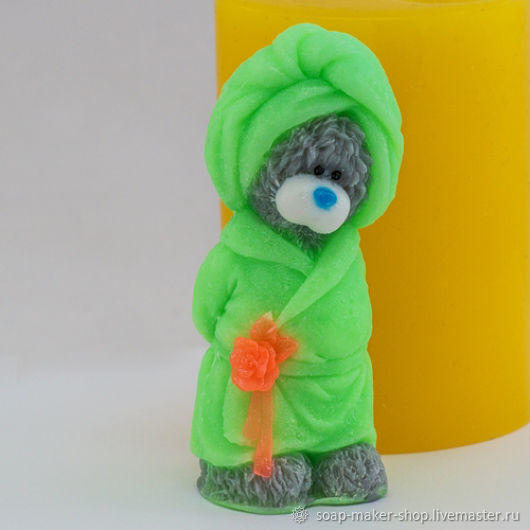 Silicone mold for soap 'Teddy in a Bathrobe 3D', Form, Shahty, Фото №1