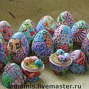 """Подарки к праздникам ручной работы. Ярмарка Мастеров - ручная работа Пасхальные яйца """"Лоскуты"""". Handmade."""