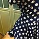 Платья ручной работы. Штапельное платье в пол Горох 3. Плательная лавка Веры и Марины. Ярмарка Мастеров. Платье в пол