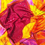 Аксессуары handmade. Livemaster - original item Batik Shawl satin