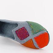 """Обувь ручной работы. Ярмарка Мастеров - ручная работа Стильные туфли из войлока """"Каприз Коломбины"""". Handmade."""