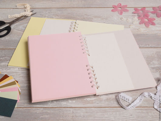 Заготовка -блокнот с разноцветными листочками