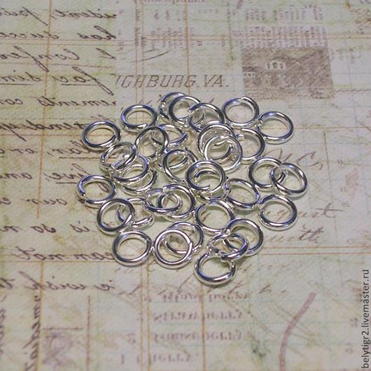 колечко разъемное, 5х0,8 мм, сплав металлов, цвет серебро (01030801)
