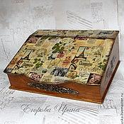 Для дома и интерьера handmade. Livemaster - original item Mini chest of drawers secretaire Bureau the Paris mysteries. Handmade.
