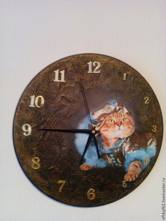 """Часы для дома ручной работы. Ярмарка Мастеров - ручная работа. Купить Часы """"Шотландский красавец"""". Handmade. Комбинированный, часы декупаж"""