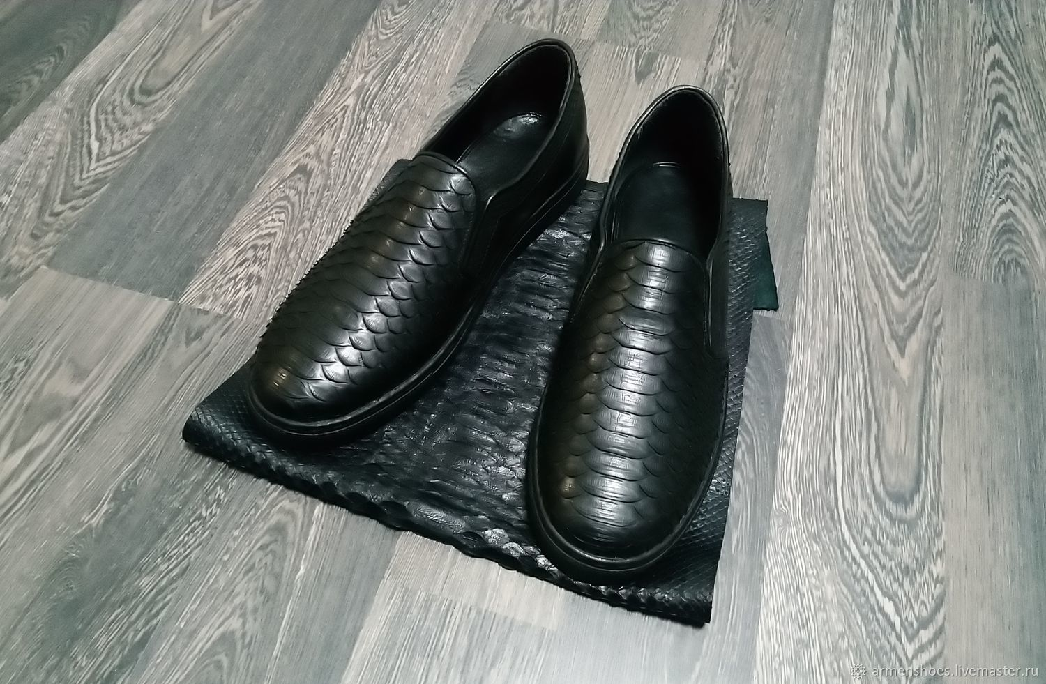 Slip-ons made of genuine Python leather and calfskin, in stock!, Slip-ons, Tosno,  Фото №1