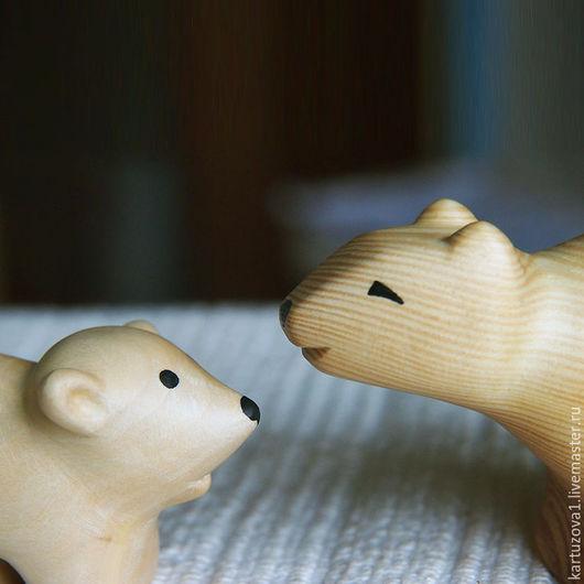Игрушки животные, ручной работы. Ярмарка Мастеров - ручная работа. Купить Умка и мама. Handmade. Комбинированный, умка, дерево