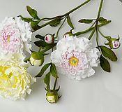 Цветы и флористика ручной работы. Ярмарка Мастеров - ручная работа Пион на стебле. Handmade.