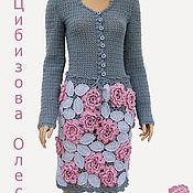 """Одежда ручной работы. Ярмарка Мастеров - ручная работа Вязаная юбка """"Pink LANUGO"""". Handmade."""