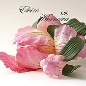 Украшения handmade. Livemaster - original item Silk flowers. Iris