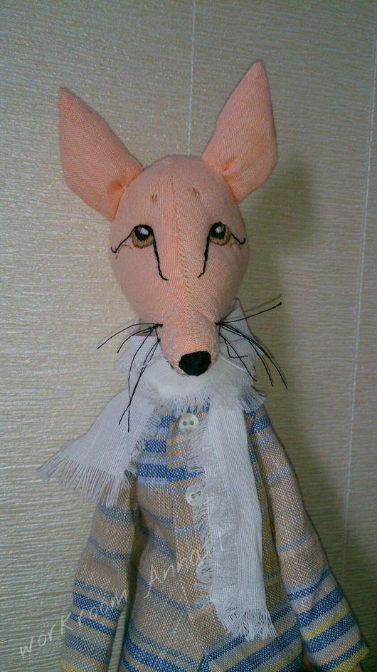 Игрушки животные, ручной работы. Ярмарка Мастеров - ручная работа. Купить Игрушка текстильная интерьерная. Лис. 46 см.. Handmade.