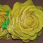 Цветы и флористика ручной работы. Ярмарка Мастеров - ручная работа Желтые розы на резиночках. Handmade.
