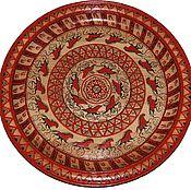 Русский стиль ручной работы. Ярмарка Мастеров - ручная работа блюдо  деревянное - панно декоративное. Handmade.