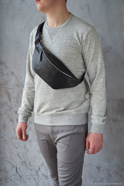 Men's waist bag 'Foster' (Black), Waist Bag, Yaroslavl,  Фото №1
