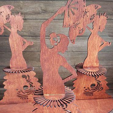 Для дома и интерьера ручной работы. Ярмарка Мастеров - ручная работа Салфетницы «Девушки». Handmade.