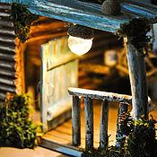 Интерьерный Домик ночник с верандой