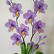 Цветы ручной работы. Ярмарка Мастеров - ручная работа Сиреневая орхидея. Handmade.