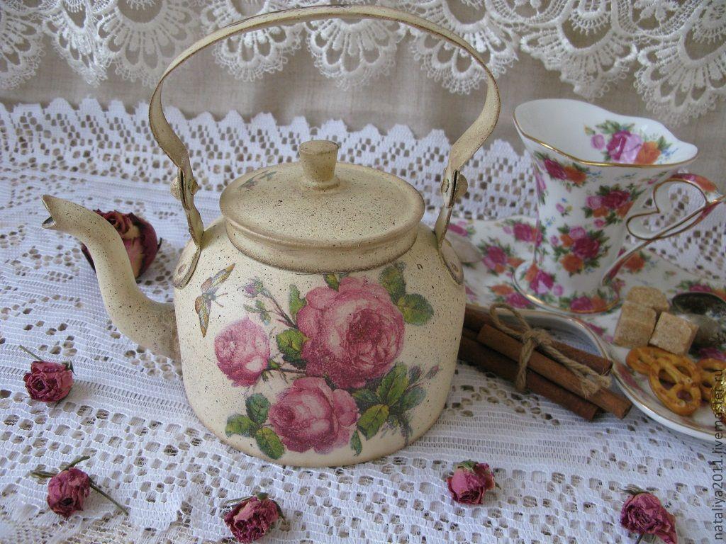 """""""Утренние розы""""-Чайник, Teapots & Kettles, Moscow,  Фото №1"""