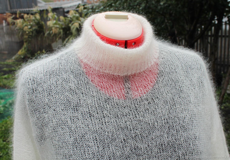 Sweater gossamer Italian kitmaker milky, Sweaters, Belovo,  Фото №1