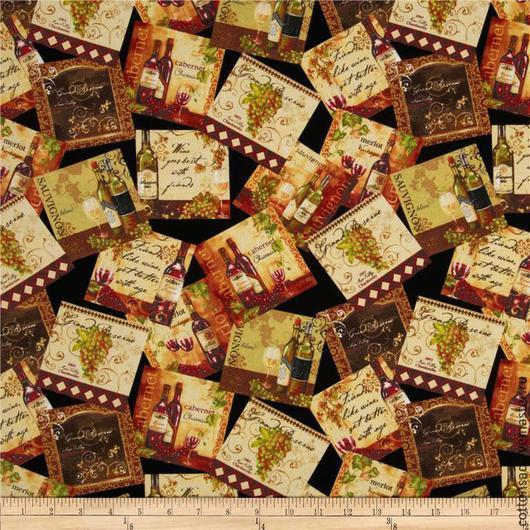 """Шитье ручной работы. Ярмарка Мастеров - ручная работа. Купить Набор тканей. (6 видов) """"Французское вино"""". Американский хлопок.. Handmade."""