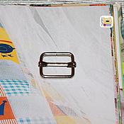 Материалы для творчества ручной работы. Ярмарка Мастеров - ручная работа Рамка-регулятор 20мм шлевка (F16) металлическое никель. Handmade.