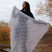Аксессуары handmade. Livemaster - original item Openwork down shawl