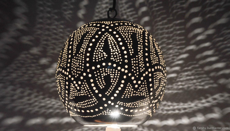 Lamps handmade. Livemaster - handmade. Buy Handcrafted Egyptian Brass pendant light.Copper, chandelier, decor light, silver coating