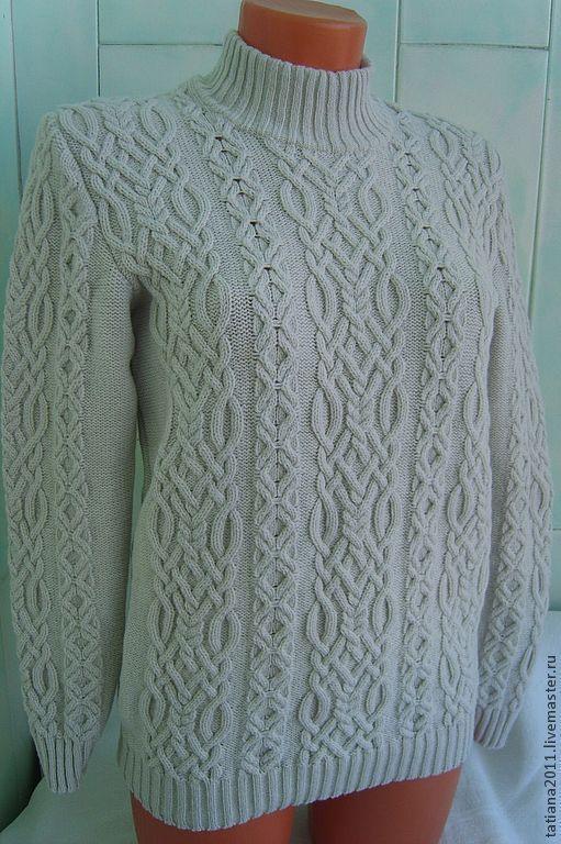 """Кофты и свитера ручной работы. Ярмарка Мастеров - ручная работа. Купить женский пуловер из мериноса и кашемира """"Зимний"""". Handmade. Белый"""