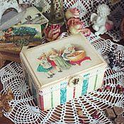 """Для дома и интерьера ручной работы. Ярмарка Мастеров - ручная работа Шкатулка для чая """"Хозяюшки"""". Handmade."""