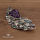 Brooch silver Starry night (charoite, silver). Brooches. jewelart. Online shopping on My Livemaster.  Фото №2