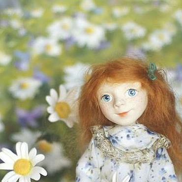Куклы и игрушки ручной работы. Ярмарка Мастеров - ручная работа Варенька и Ромашки Кукла. Handmade.