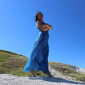 Одежда handmade. Livemaster - original item Silk fishnet dress Google Переводч. Handmade.