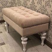 Банкетки ручной работы. Ярмарка Мастеров - ручная работа Банкетка скамейка с ящиком для вещей - бежевая. Handmade.