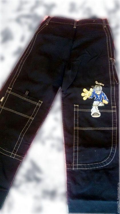 Одежда. Ярмарка Мастеров - ручная работа. Купить Винтажные американские джинсы новые100 % COTTON. Handmade. Черный