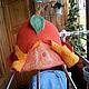 Верхняя одежда ручной работы. Ярмарка Мастеров - ручная работа. Купить Шапка Банная валяная. Handmade. Оранжевый, Овечья шерсть