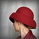 """Шляпы ручной работы. Заказать Дамская шляпка """" Рas de deux красной орхидеи"""". Ирина Спасская.. Ярмарка Мастеров."""