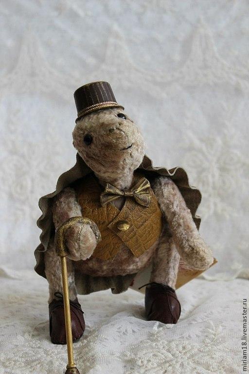 """Мишки Тедди ручной работы. Ярмарка Мастеров - ручная работа. Купить Черепашка Тедди """"Стиф"""". Handmade. Бежевый, подарок на новый год"""