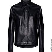 Одежда ручной работы. Ярмарка Мастеров - ручная работа Кожаная куртка-рубашка. Handmade.