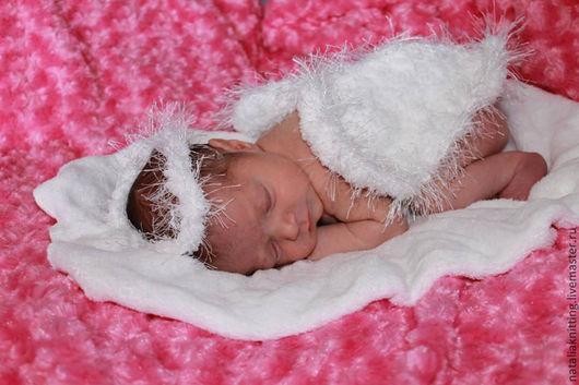 """Для новорожденных, ручной работы. Ярмарка Мастеров - ручная работа. Купить """"Ангел"""" для фотосессии. Handmade. Белый, ангелы, ободок, фотосъемка"""