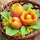 "Мыло ручной работы. Ярмарка Мастеров - ручная работа. Купить Мыло ручной работы  ""Весенние Тюльпаны"". Handmade. мыло цветы"