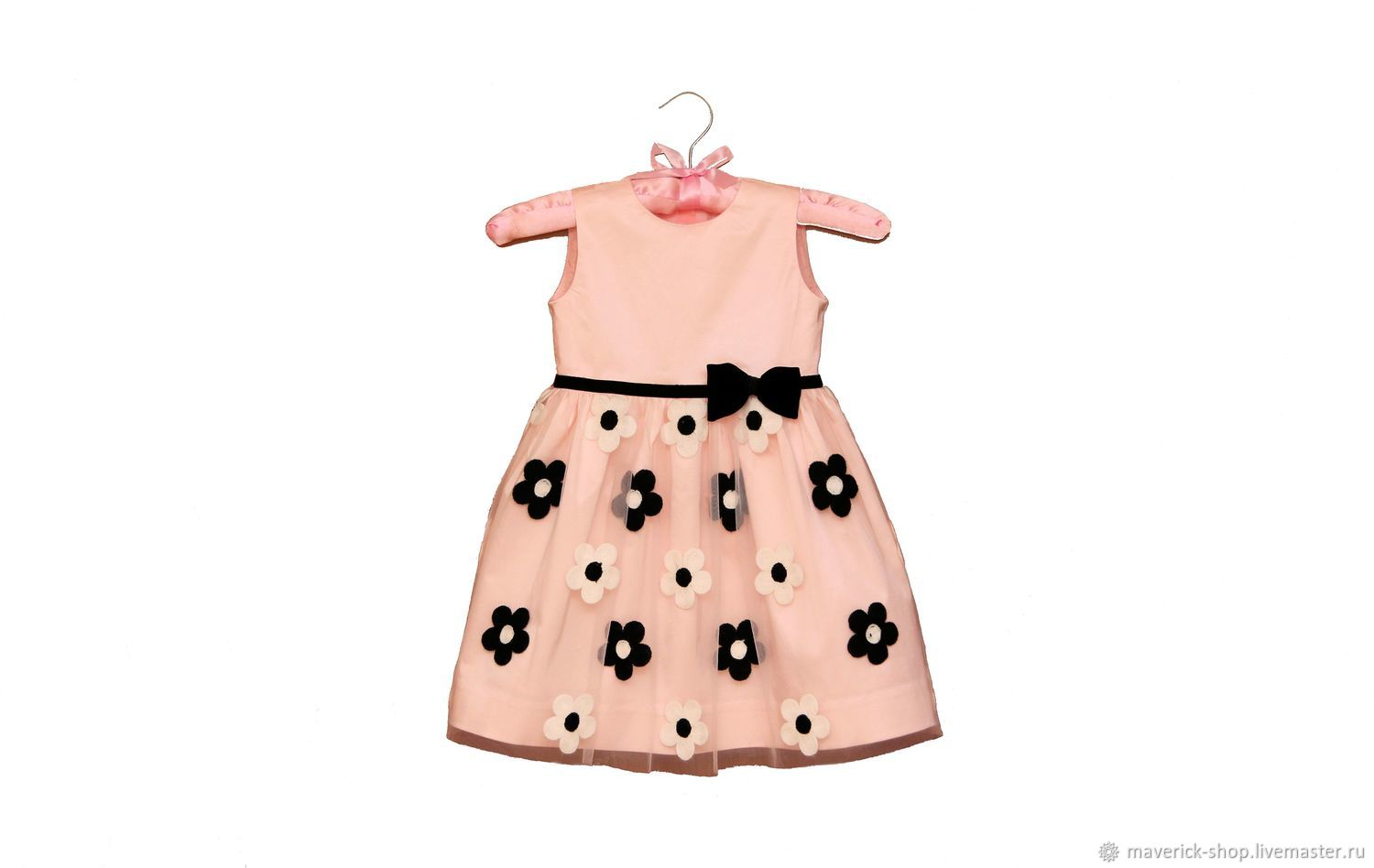 025125bf1da Black And White Flowers Clothes For S Handmade Livemaster Handmade Pink  Dressy Dress For With. Pink Dressy Dress For With Black And White Flowers