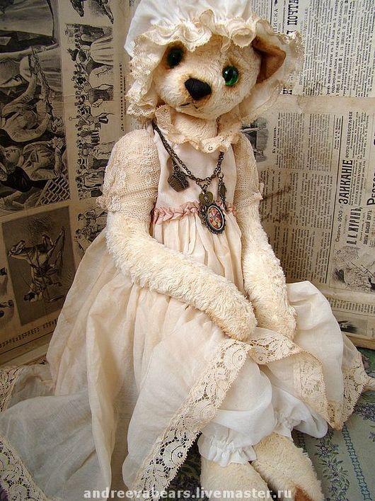 """Мишки Тедди ручной работы. Ярмарка Мастеров - ручная работа. Купить Кошка """"Крем-брюле"""". Handmade. Кошка, белое платье"""