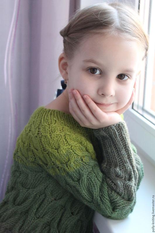 """Одежда для девочек, ручной работы. Ярмарка Мастеров - ручная работа. Купить Свитер """"Летние луга"""" градиентом. Handmade. Комбинированный"""