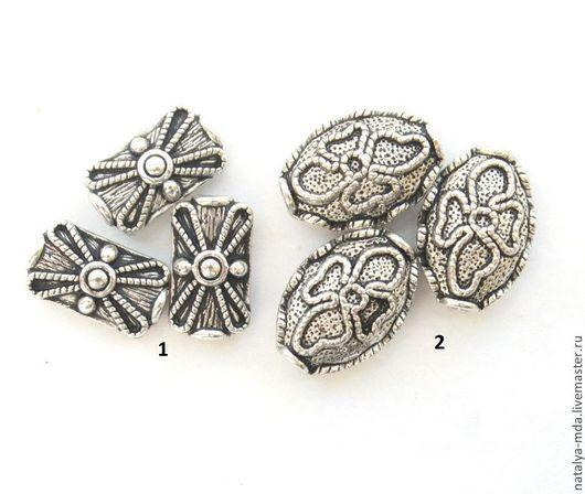 Для украшений ручной работы. Ярмарка Мастеров - ручная работа. Купить Бусины металлические античное серебро С-13. Handmade.