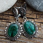 Украшения handmade. Livemaster - original item Earrings with emeralds